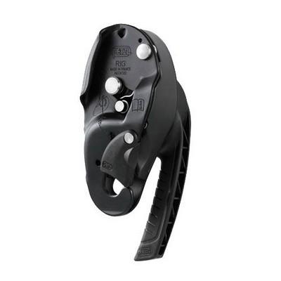 Страховочно-спусковое устройство Petzl RIG black