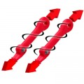Тяжи к ластам TechniSub SLINGSHOT (2 шт.) красные