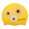 Шапочка силиконовая Saekodive CSP3 FLOWER желтая