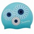 Шапочка силиконовая Saekodive CSP3 FLOWER синяя
